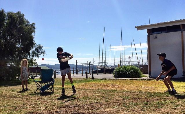 The rules of backyard cricket - Sandy Bay.