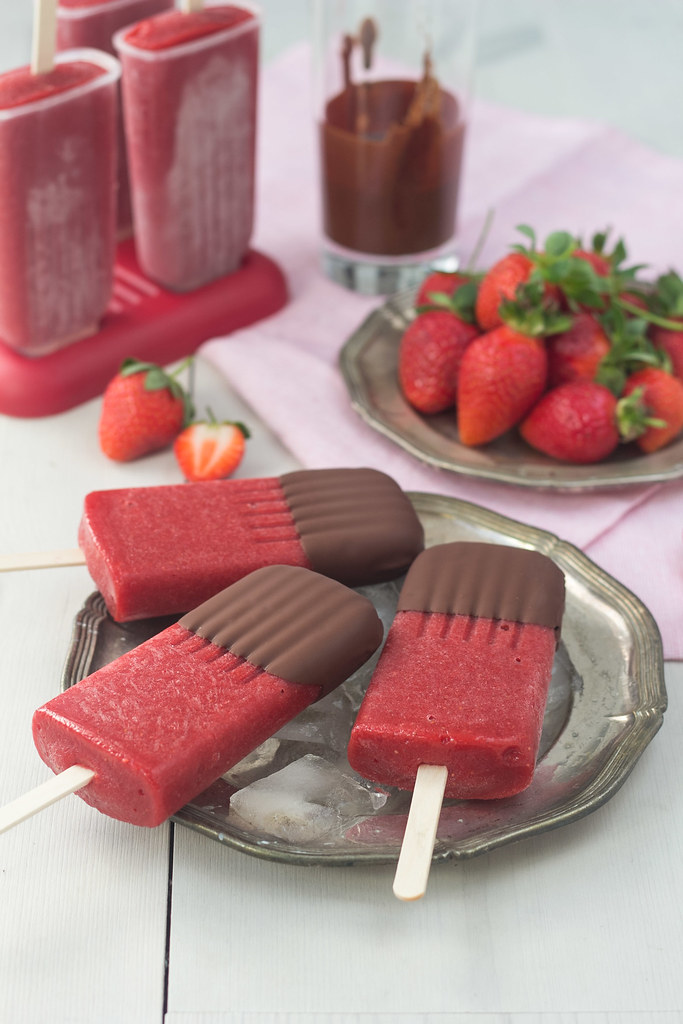 Chocolate Covered Strawberry Popsicle