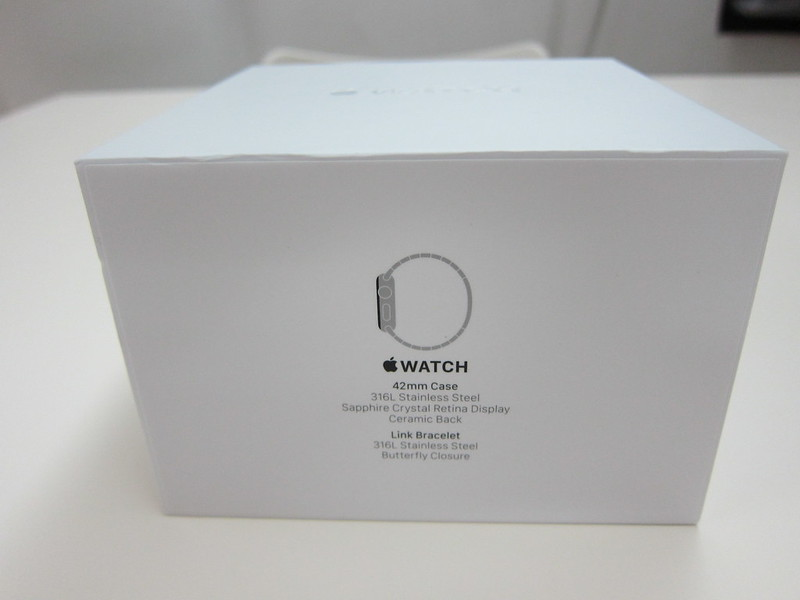 Apple Watch 42mm Stainless Steel Case with Link Bracelet - Box Side
