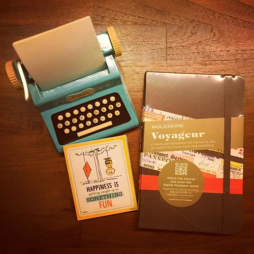 More #writerly gifts, this time from a thoughtful friend. The #Moleskine #Voyageur will be handy when I'm in Iowa. 7 weeks to go!