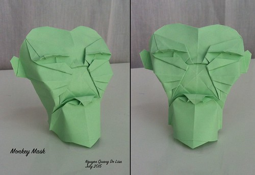 Origami Monkey Mask