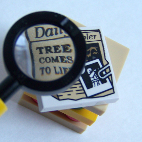 LEGO printed tiles newspaper