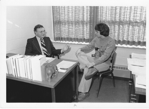 Dr Robert C Strubhar -in office w student