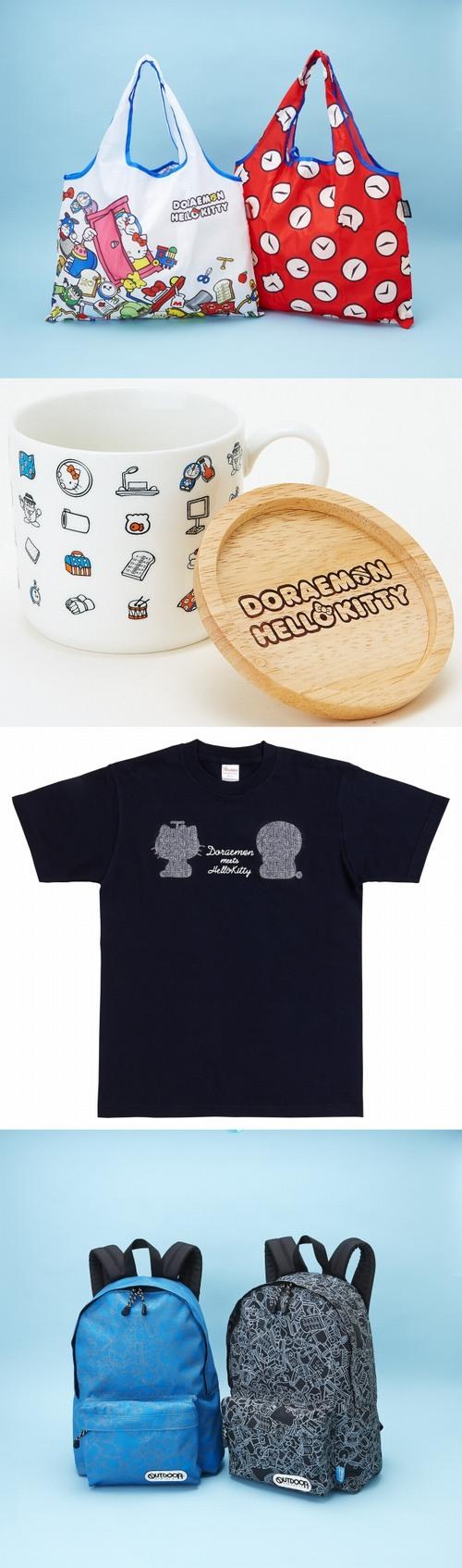 兩大人氣偶像聯名!「DORAEMON × HELLO KITTY」8月正式展開!