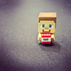 Welcome Steve my new #minecraft #minifigure #microsoftstore #microsoftlife
