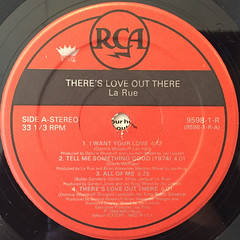 LA RUE:THERE'S LOVE OUT THERE(LABEL SIDE-A)