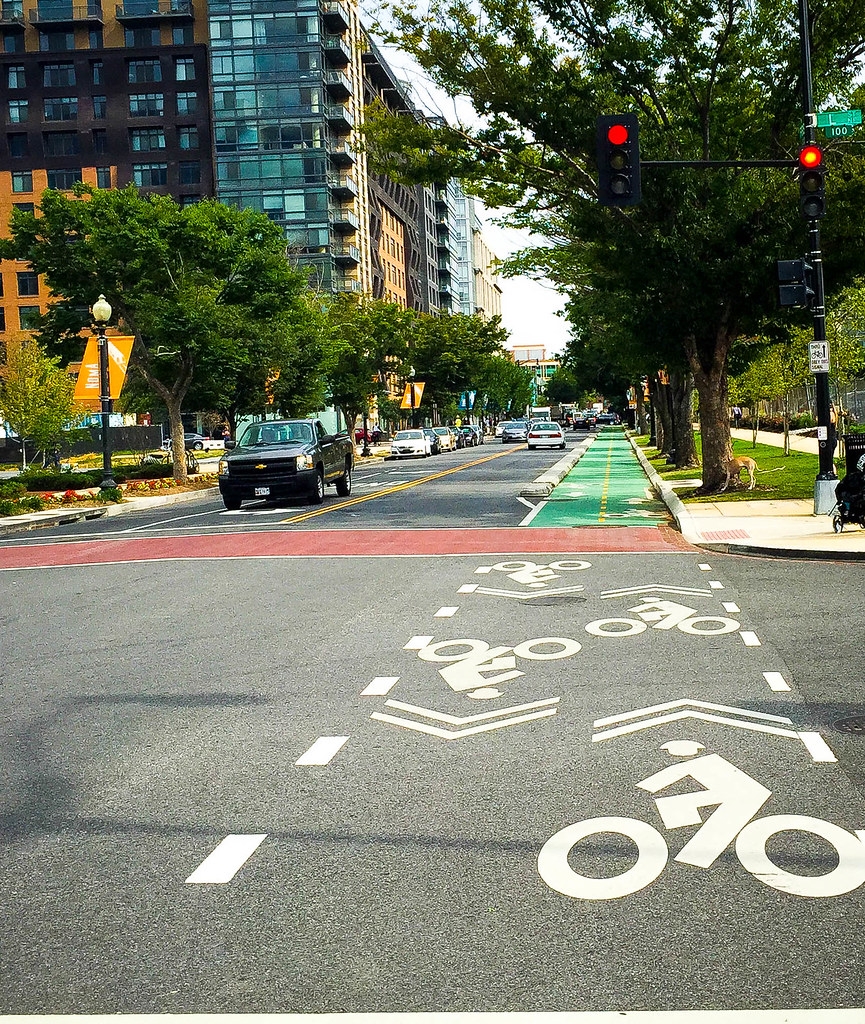 First Street NE Cycle Track Washington DC 0978