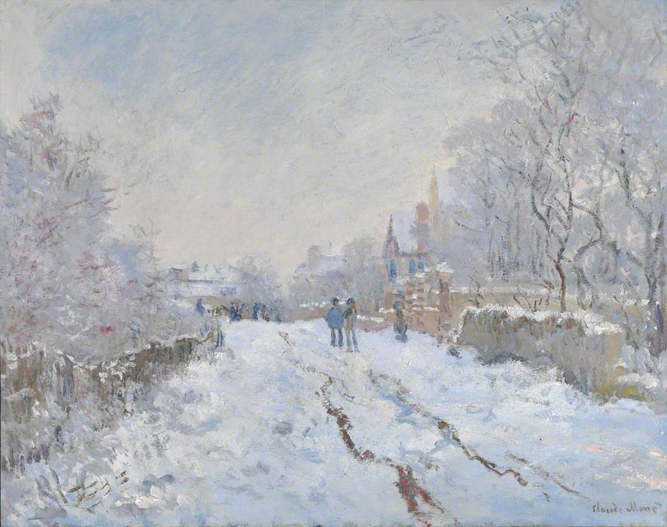 Snow Scene at Argenteuil by Claude Oscar Monet - 1875