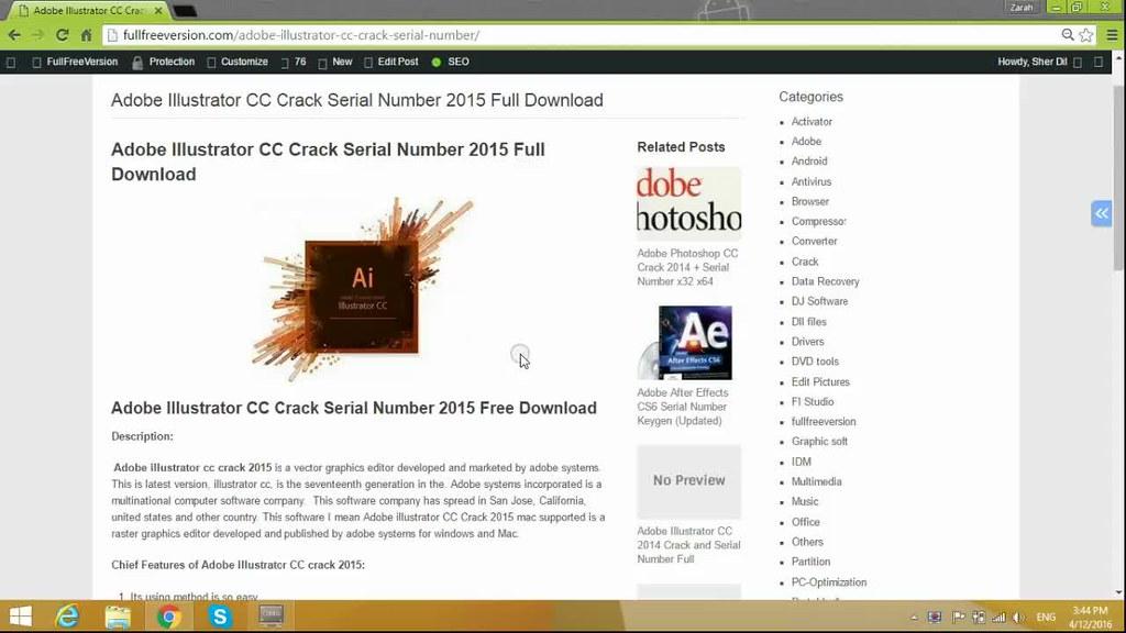 Adobe illustrator cs6 serial numbers   Adobe Illustrator CS6 2019