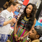 Nathalie Cazaux (ITB) with Vanessa Manunga & Jonathan Lukunsa