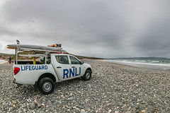 RNLI on duty at Gwithian Cornwall