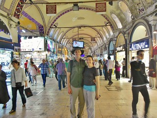 Dennis and Clare in the Grand Bazaar