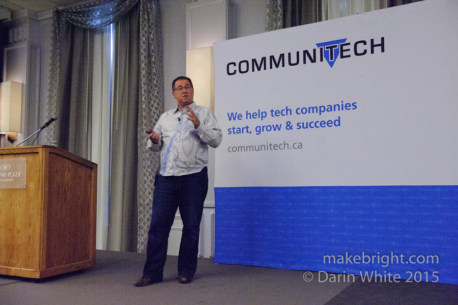 Steven Woods speaks at Women In Tech - Communitech 020