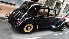 automobile, vehicle, citroã«n traction avant, antique car, sedan, classic car, vintage car, land vehicle, motor vehicle, classic,
