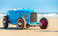 Hot rod on Pendine Sands