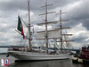 Sagres sails off the dock