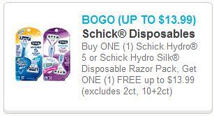 Schick Hydro 5 Disposable Razors