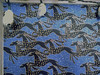 Customized work space: Wallpapered by Elizabeth in my 'Wild galloping gazelles on mid blue' (2 of 3)
