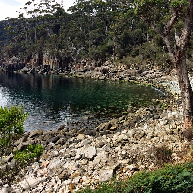 A cove near Fortescue Bay.