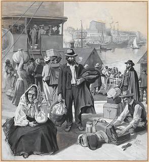 Immigrants dock at Quebec / Le quai d'immigrants à Québec