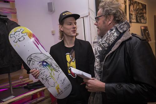 Natuurlijk stevende Sander direct op dit board af