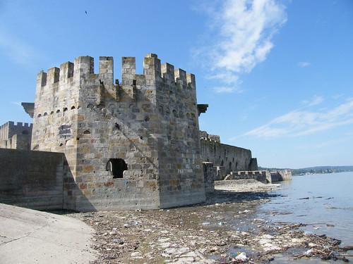 szerbia serbia smederevo szendrő épület building műemlék sightseeing vár castle vízpart water folyó river várrom ruin duna