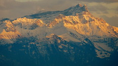 Alpenglow on the Alps (where else?)