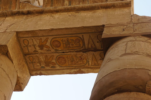 Ancient Egyptian Hieroglyphics in Karnak