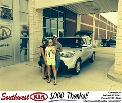 #HappyAnniversary to Nathaniel & Heather King on your 2014 #Kia #Soul from Gary Guyette  at Southwest KIA Rockwall!