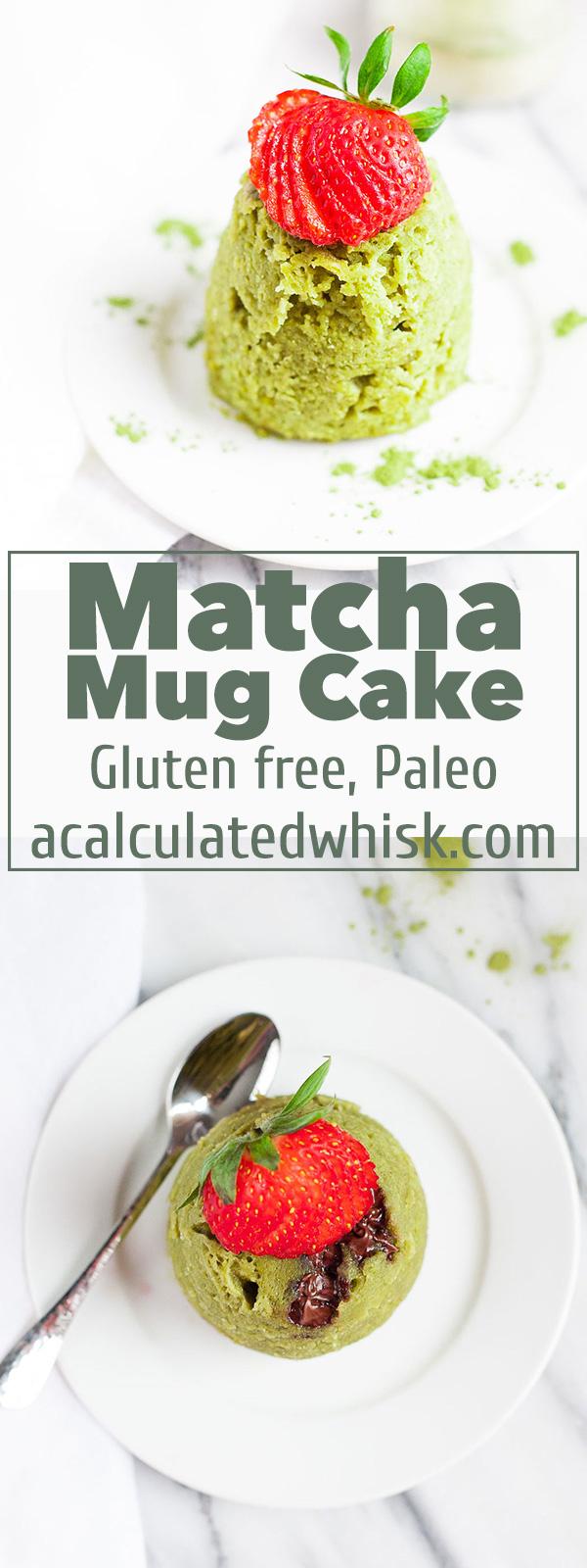 Matcha Mug Cake (Paleo, Gluten-free) | acalculatedwhisk.com