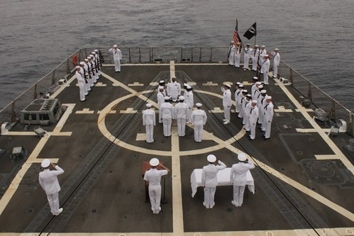 USS William P. Lawrence Conducts Burial at Sea