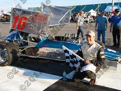Dave Gruel ISMA Heat Race Win