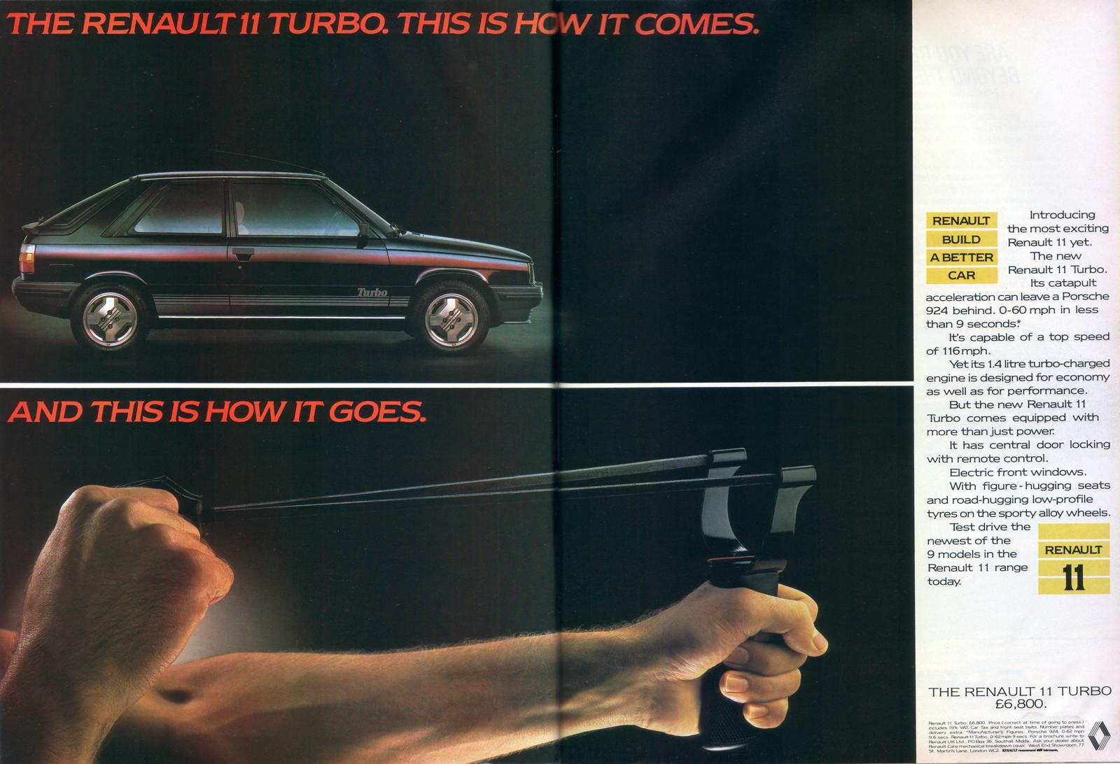 The Amazo Effect  Commercial Break  Renault 11 Turbo  1984  Uk