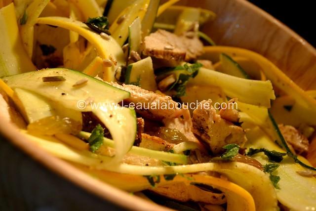 Salade de Courgettes au Poulet © Ana Luthi Tous droits réservés 017