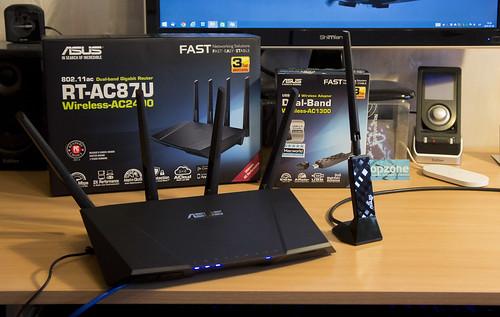 Asus RT AC87U routeris: greičiausias WiFi 2,4Gbps