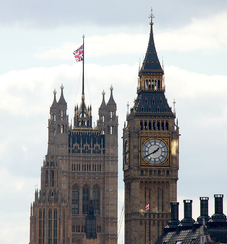 Big Ben with the Victoria Tower at the back