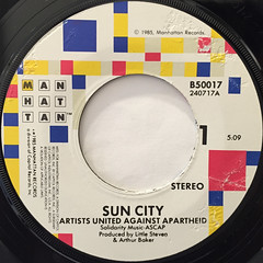 ARTISTS UNITED AGAINST APARTHEID:SUN CITY(LABEL SIDE-A)