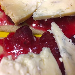Young Buck cheese with homemade cranberry sauce on…