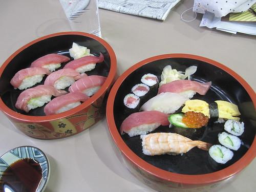 中山競馬場の和可奈の寿司