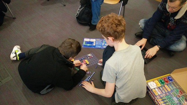 kids playing with a Hot Wires game