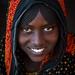 Portrait of a smiling Afar tribe teenage girl with braided hair, Afar region, Mile, Ethiopia by Eric Lafforgue
