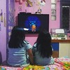 Jasmine & Aliya Watching TV