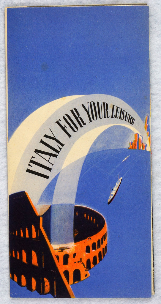 RD12158 Italy For Your Leisure 1939 Travel Brochure New York Worlds Fair Hand Out DSC08604