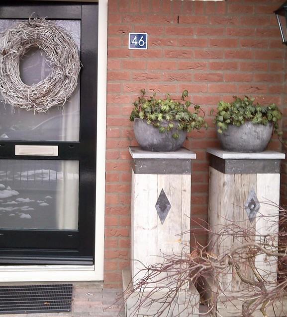 Decoratie voordeur landelijk