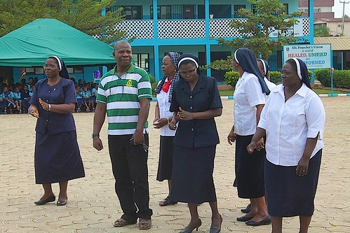 Some of the Sisters of St Louis enjoying the 40th anniversary celebrations of the St Louis Nursery and Primary School in Akure, Nigeria
