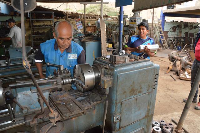 lokale Werkstätten vor Ort