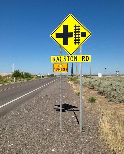 road railroad arizona usa sign highway maricopa