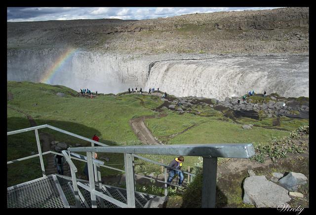 Escalera de Cascada Dettifoss desde carretera F862