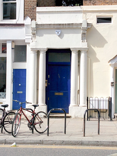 the blue door in Notting Hill