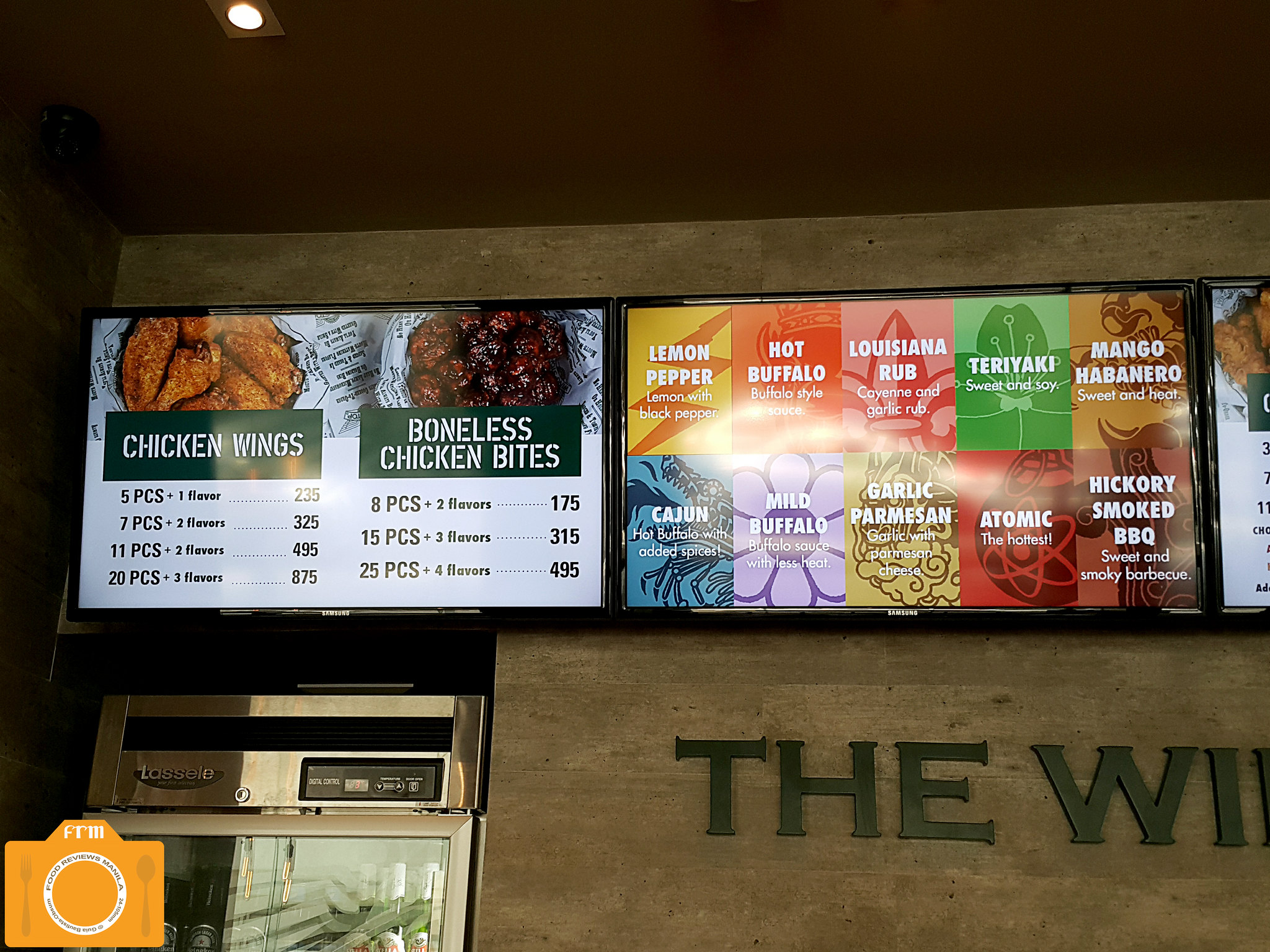 Wingstop menu board 1